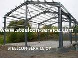 Frame steel hal, building steel construction, containers - photo 2