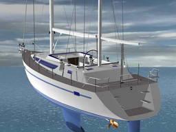 Sail-motor yacht 42ft katch Cruiser
